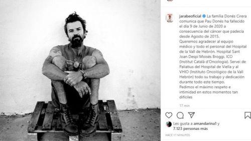 El cáncer se lleva a Pau Donés tras un lustro de lucha incansable