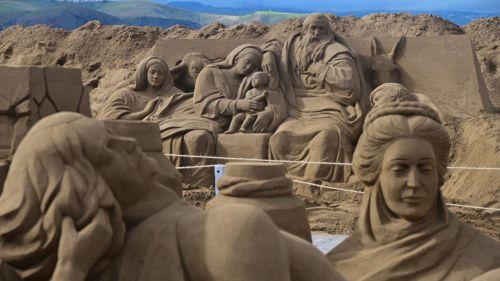 El Belén de arena de las Canteras traspasa fronteras