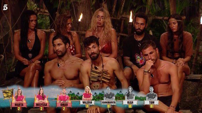 Canales dice adiós a 'Supervivientes', Palito es desterrada y Marta, Melyssa, Omar y Tom, nominados