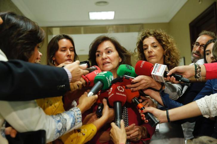 Carmen Calvo: 'Es justo y emocionante poder mejorar la vida de las mujeres'