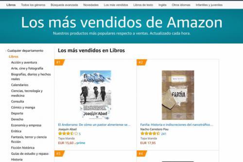 'El andorrano' de Joaquín Abad es ya el libro más vendido de Amazon
